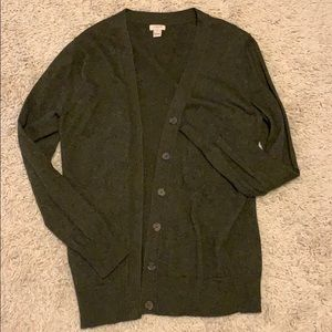 J. Crew Forest Green Cardigan
